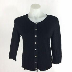White House Black Market Cardigan Sweater Black